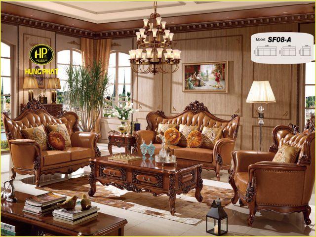 Vẻ đẹp cổ điển quý tộc của sofa nhập khẩu