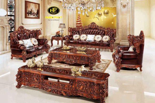 ghế sofa phòng khách cổ điển sang trọng cao cấp