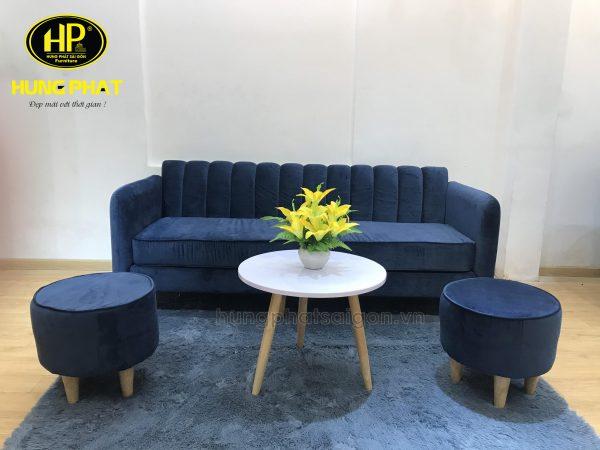 ghế sofa phòng khách chất liệu nhung giá rẻ
