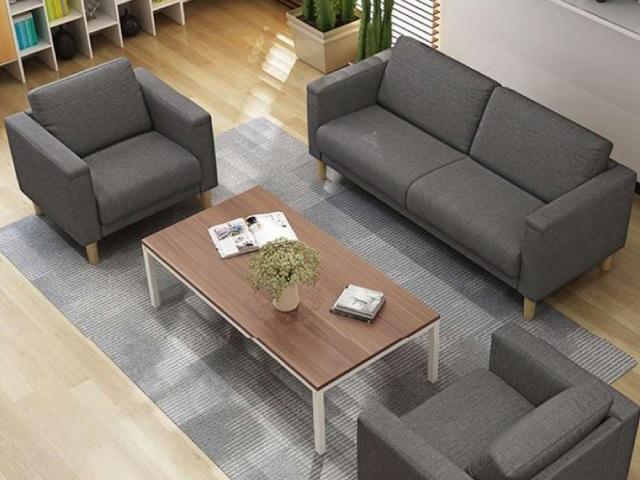Ghế sofa vải văn phòng màu xám đậm