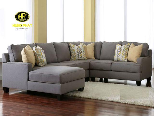 Thiết kế sofa góc chữ U bắt mắt
