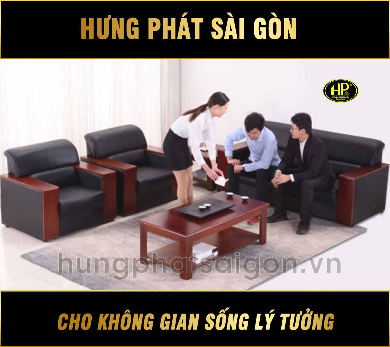Sofa da văn phòng sang trọng H-23
