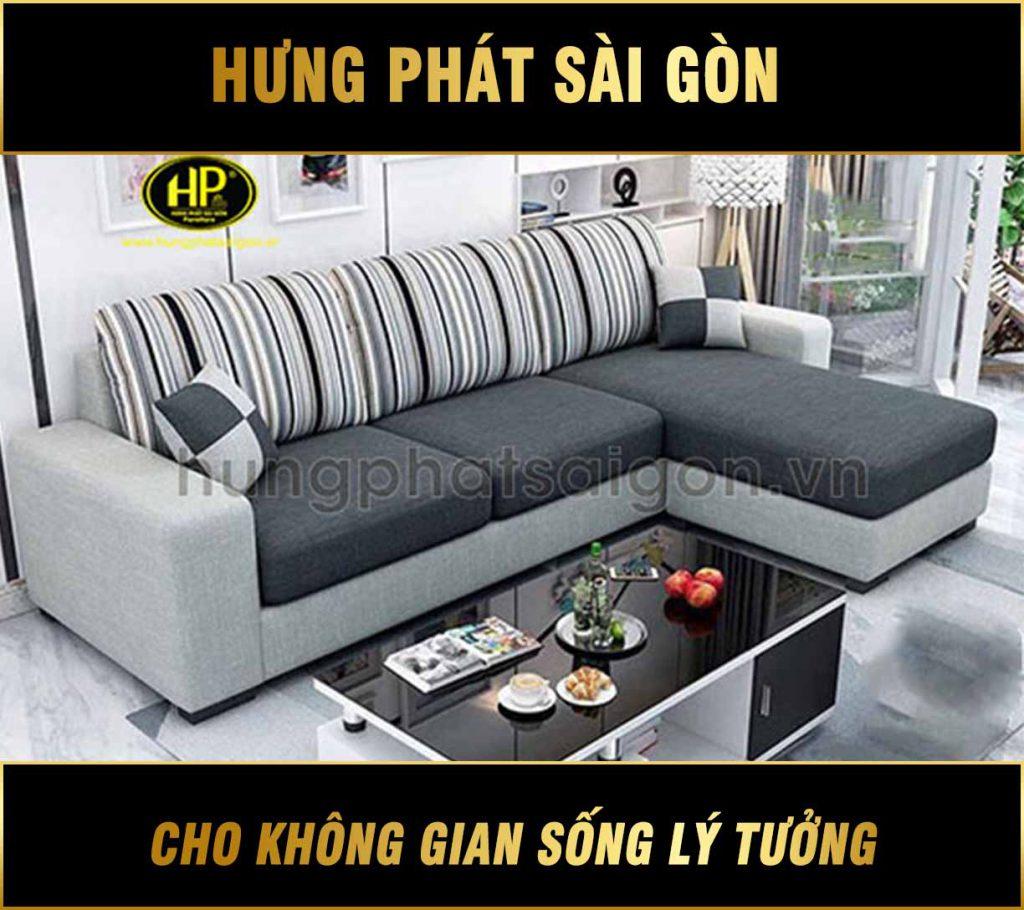Sofa Góc Vải nhỏ gọn H-235D