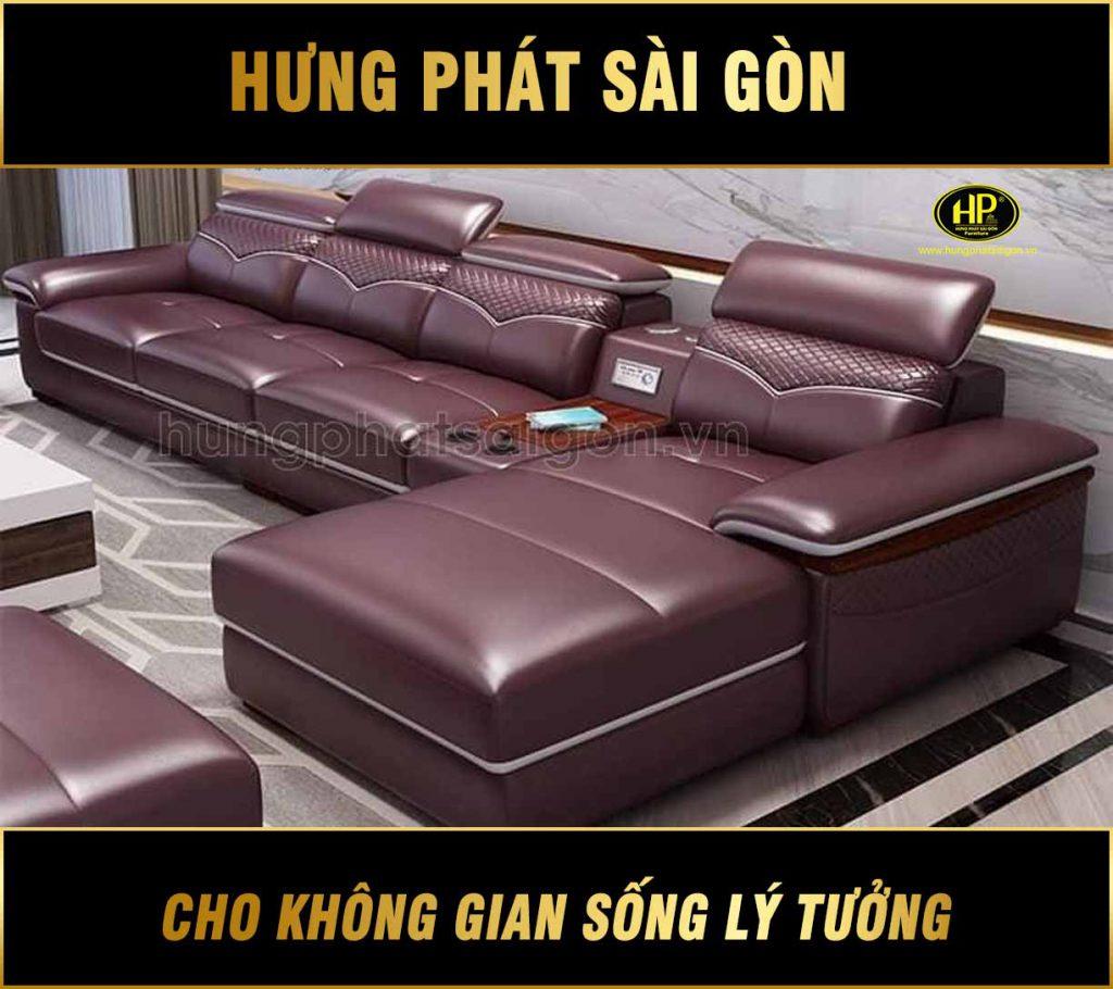 Sofa da cao cấp đẹp HD-24