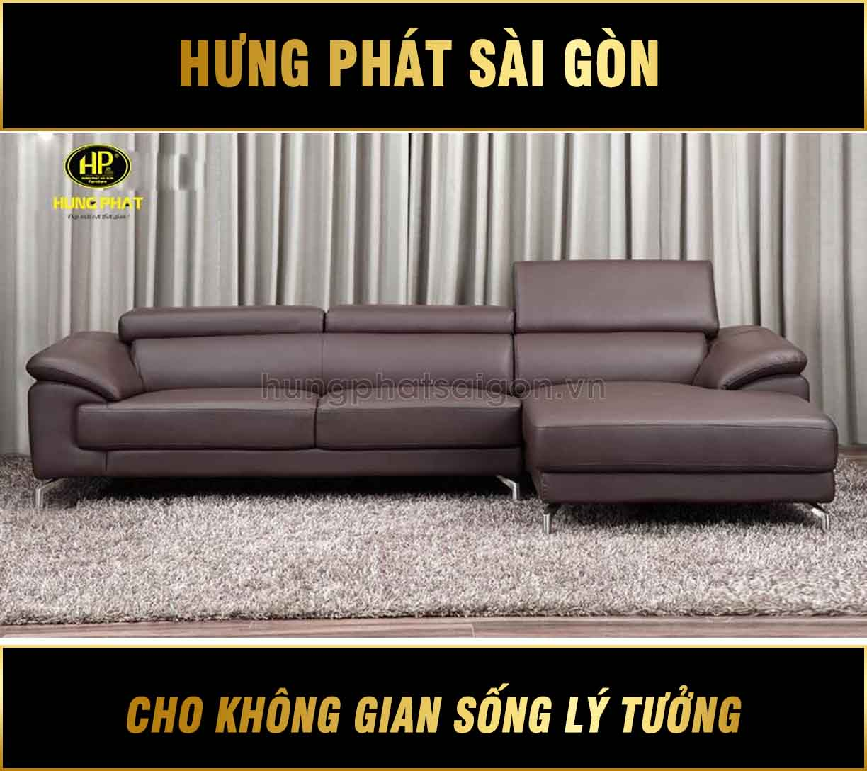 Sofa da phòng khách đẹp HD-22