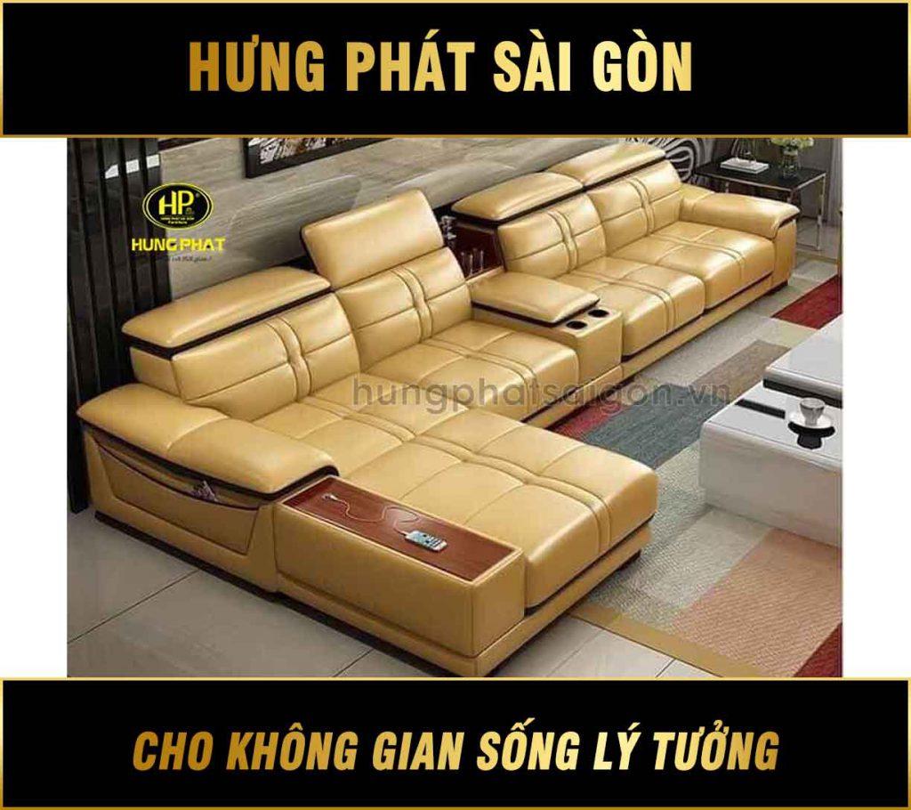 Sofa da phòng khách hiện đại HD-26