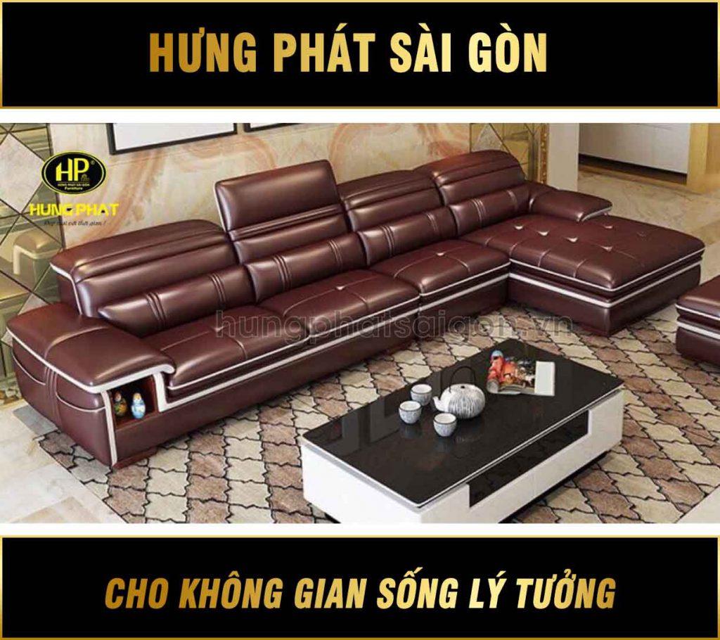 Sofa da phòng khách sang trọng HD-16