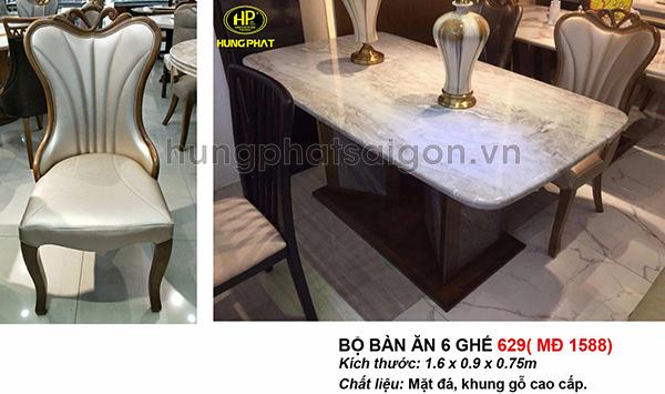 bàn ăn 6 ghế sang trọng uy tín giá rẻ tại tphcm