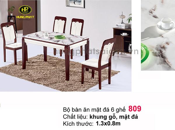 bộ bàn ăn mặt đá 6 ghế sang trọng uy tính tại tphcm