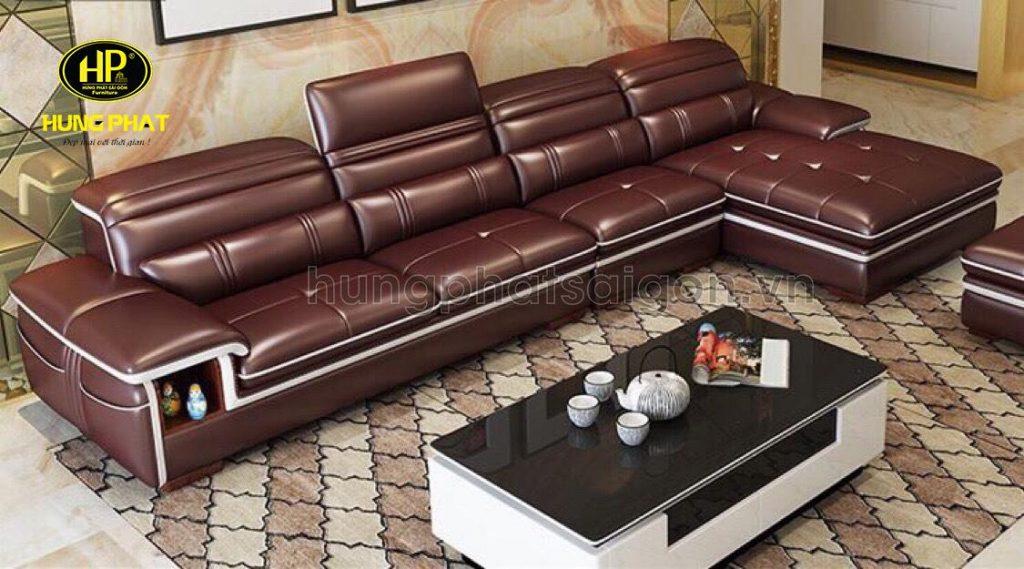 Ghế sofa da thật cao cấp cho phòng khách sang trọng tại tphcm