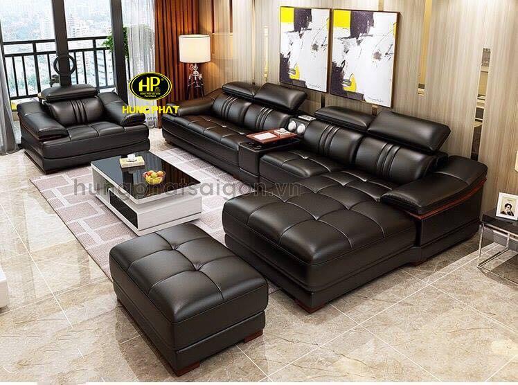 ghế sofa da ý cao cấp nhập khẩu chính hãng sang trọng cho phòng khách tại tphcm