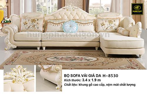 sofa cao cấp vải giả da sang trọng uy tín