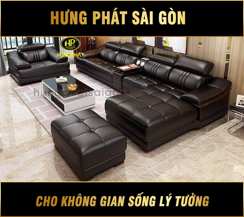 Sofa da cao cấp sang trọng HD-18