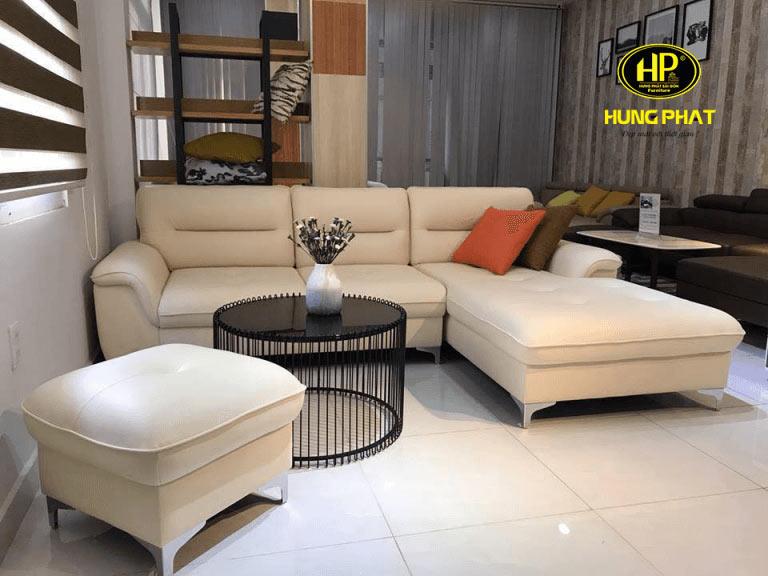 sofa da cao cấp nhỏ gọn hiện đại