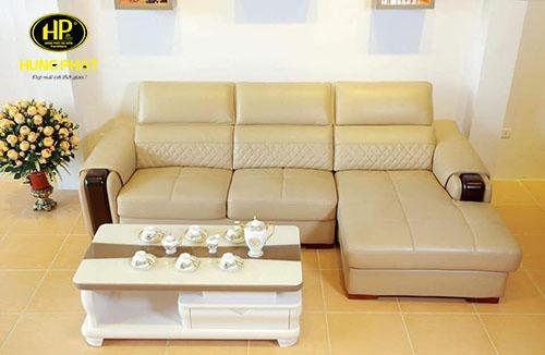 Sofa da góc nhỏ cao cấp H-2620A