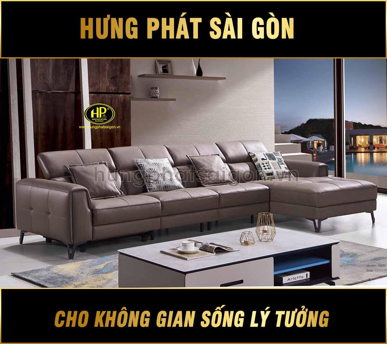 Sofa da bò cao cấp H-1822