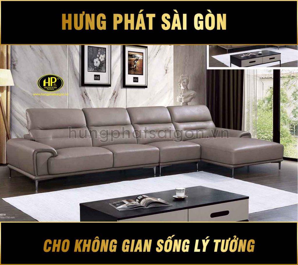 Sofa da bò nhập khẩu cao cấp H-821