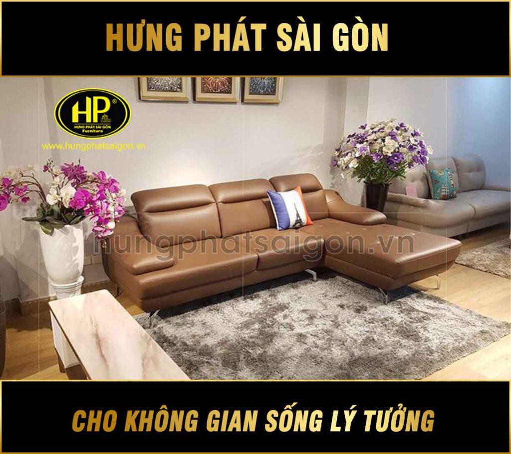 Sofa da phòng khách hiện đại HD-42