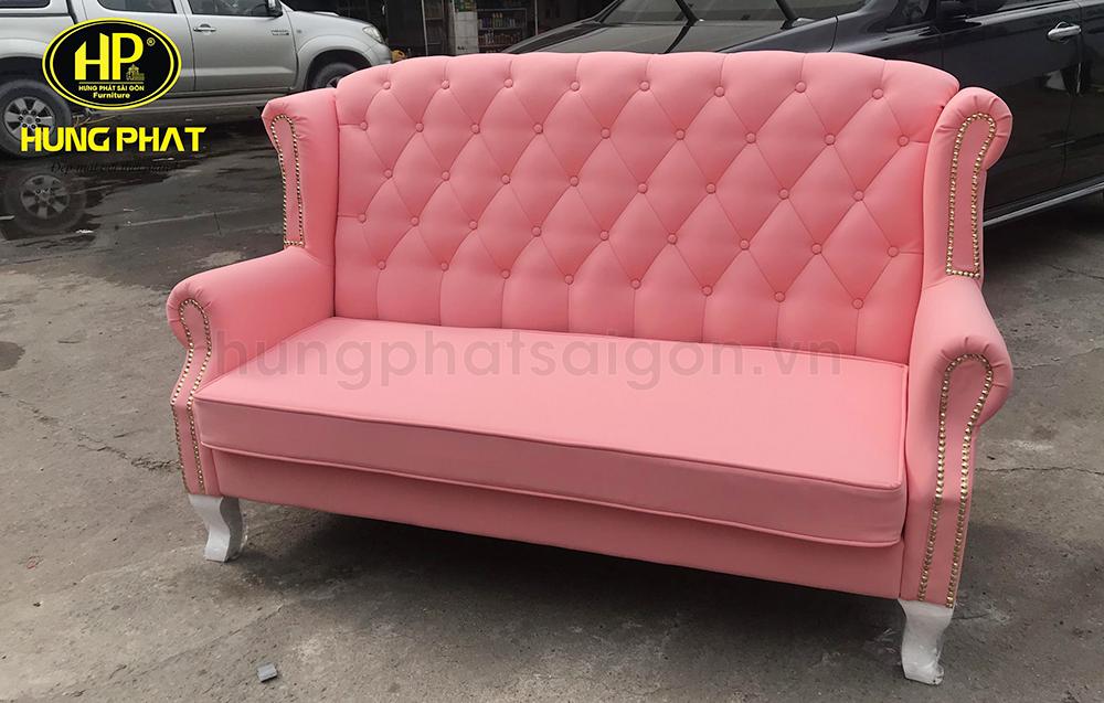 sofa màu hồng sang trọng chất lượng uy tín