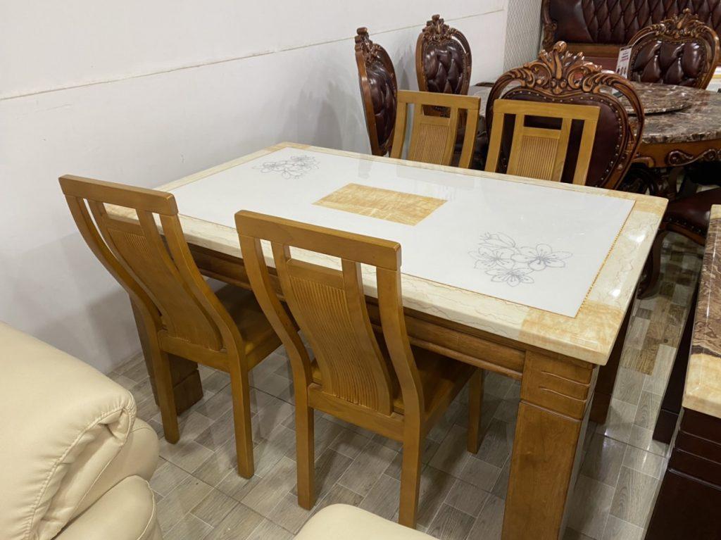 bàn ăn 4 ghế cao cấp sang trọng