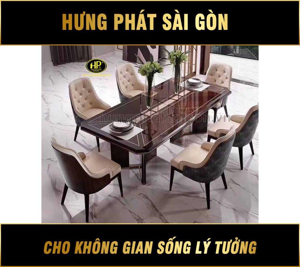 Bàn ăn 6 ghế H-153