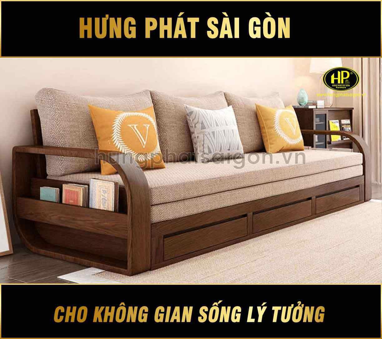 Sofa giường gỗ mới nhất G-08