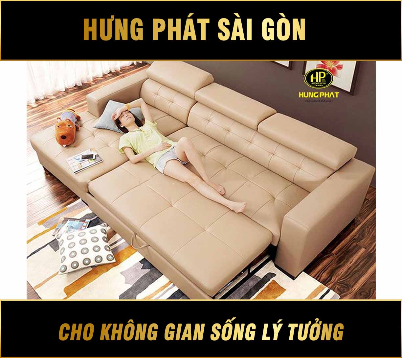 Sofa giường kéo chất liệu Da mã G-06