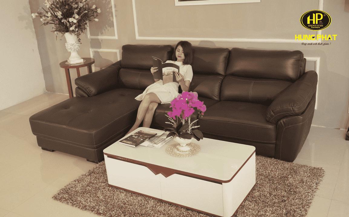 ghế sofa da nhỏ gọn cao cấp