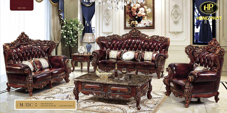 ghế sofa tại Kon Tum chất liệu da bò nhập khẩu