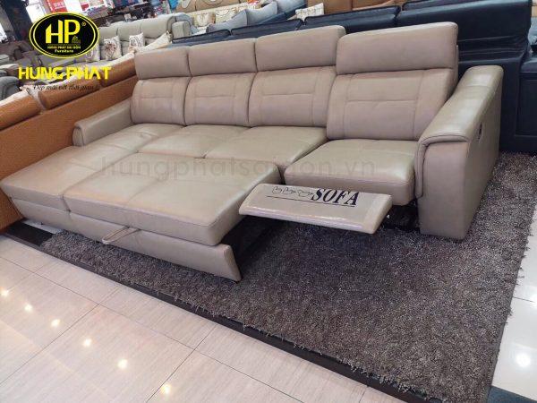 ghế sofa giường thư giãn da bò sang trọng