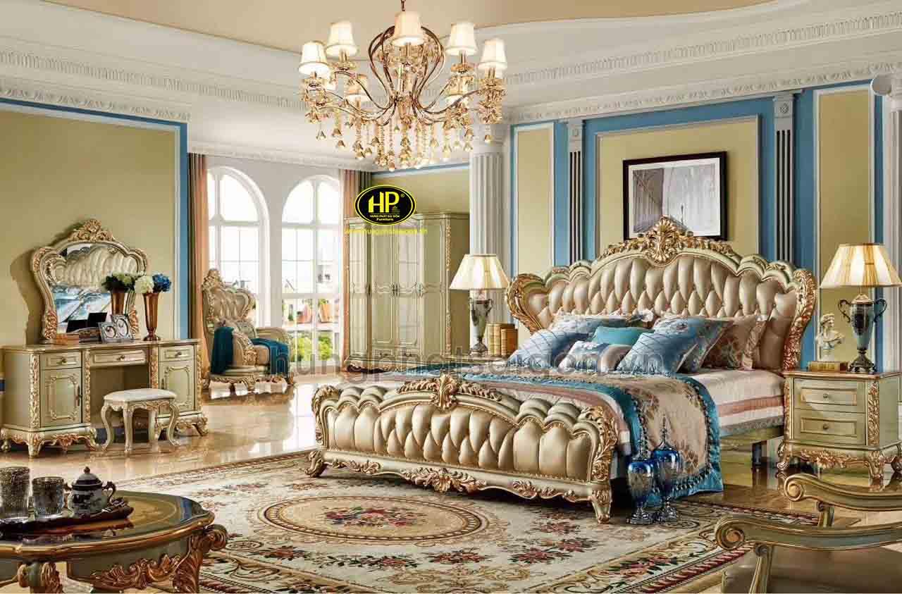 giường ngủ cổ điển sang trọng quý phái