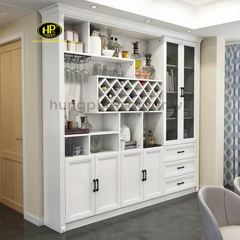 tủ rượu tân cổ điển nhà bếp sang trọng
