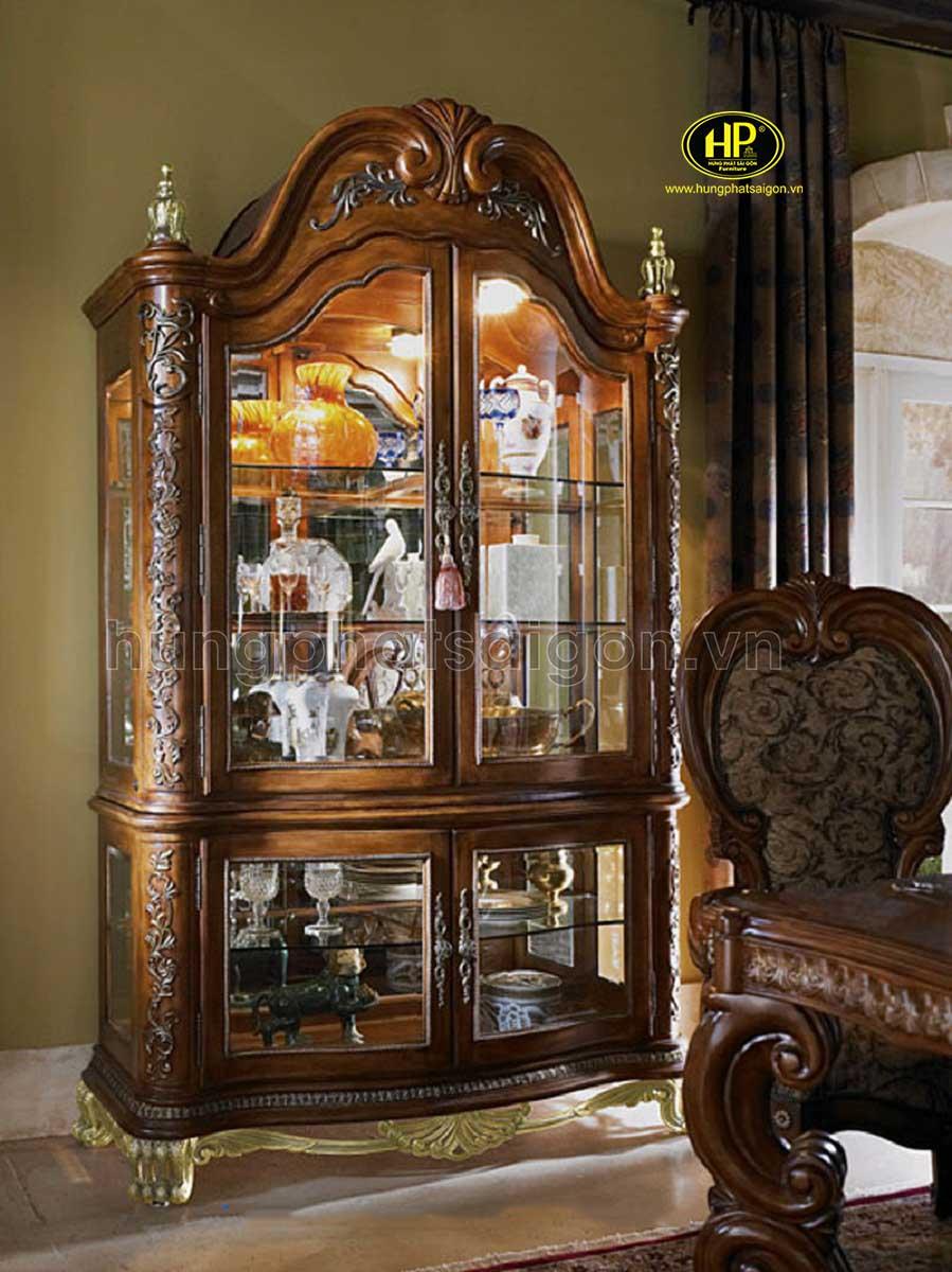 tủ rượu đứng tân cổ điển sang trọng hiện đại cao cấp cho phòng khách