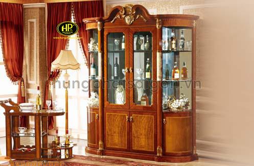 tủ rượu tân cổ điển sang trọng bắt mắt