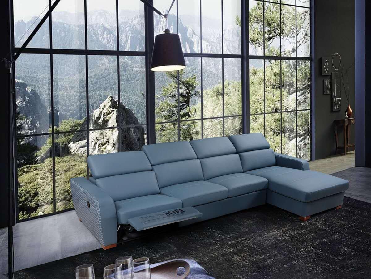 sofa da hiện đại đa năng tiện lợi