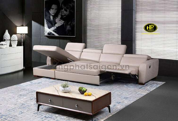 sofa da nhập khẩu sang trọng hiện đại