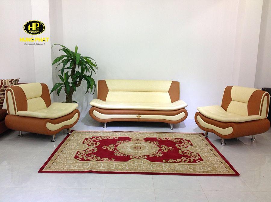 Sofa H-192 giá rẻ với tông màu chủ đạo là kem và nâu