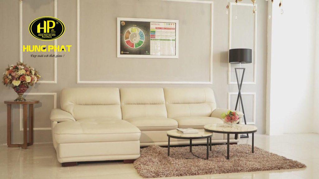 sofa góc da đẹp đơn giản