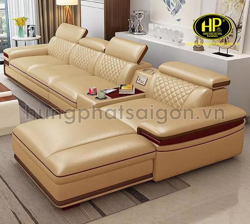 Sofa bọc da Hàn Quốc xịn giá rẻ cho phòng khách nhà ống đẹp