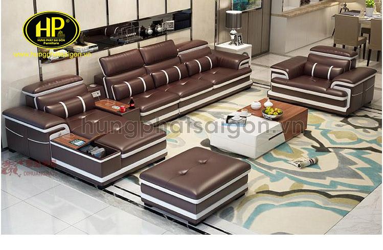 Sofa góc da Hàn Quốc giá rẻ cho phòng khách nhà phố đẹp
