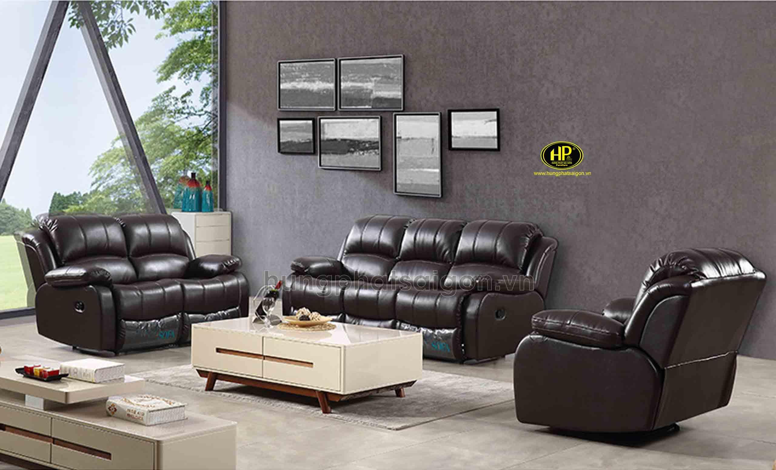 sofa da thư giãn cao cấp nhập khẩu
