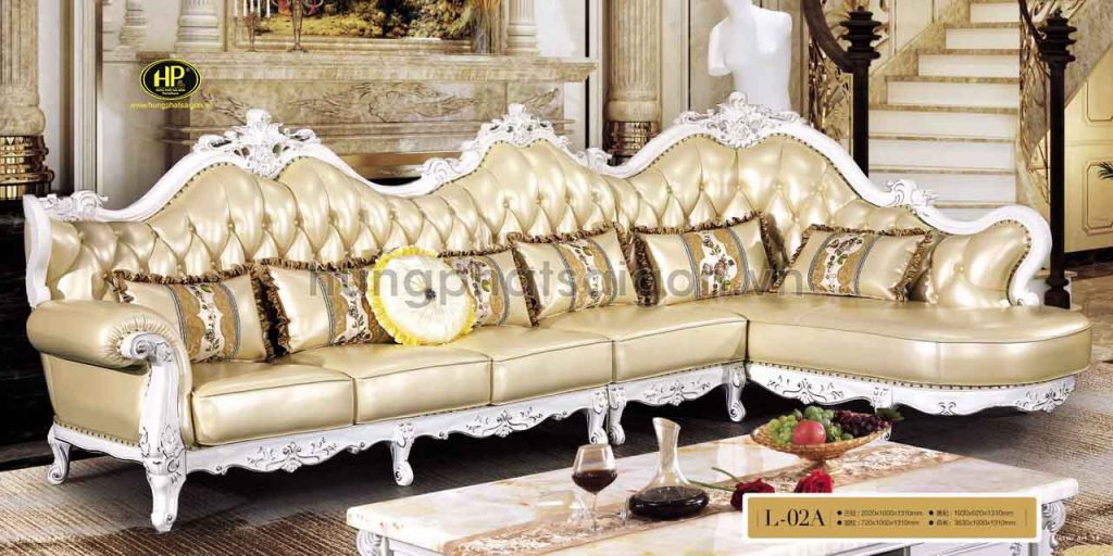 sofa tân cổ điển nhập khẩu cao cấp sang trọng hiện đại