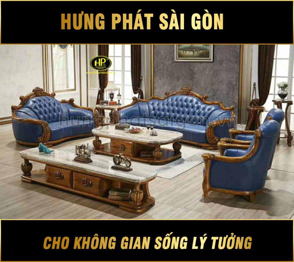 Trọn bộ sofa tân cổ điển cao cấp nhập khẩu M-69