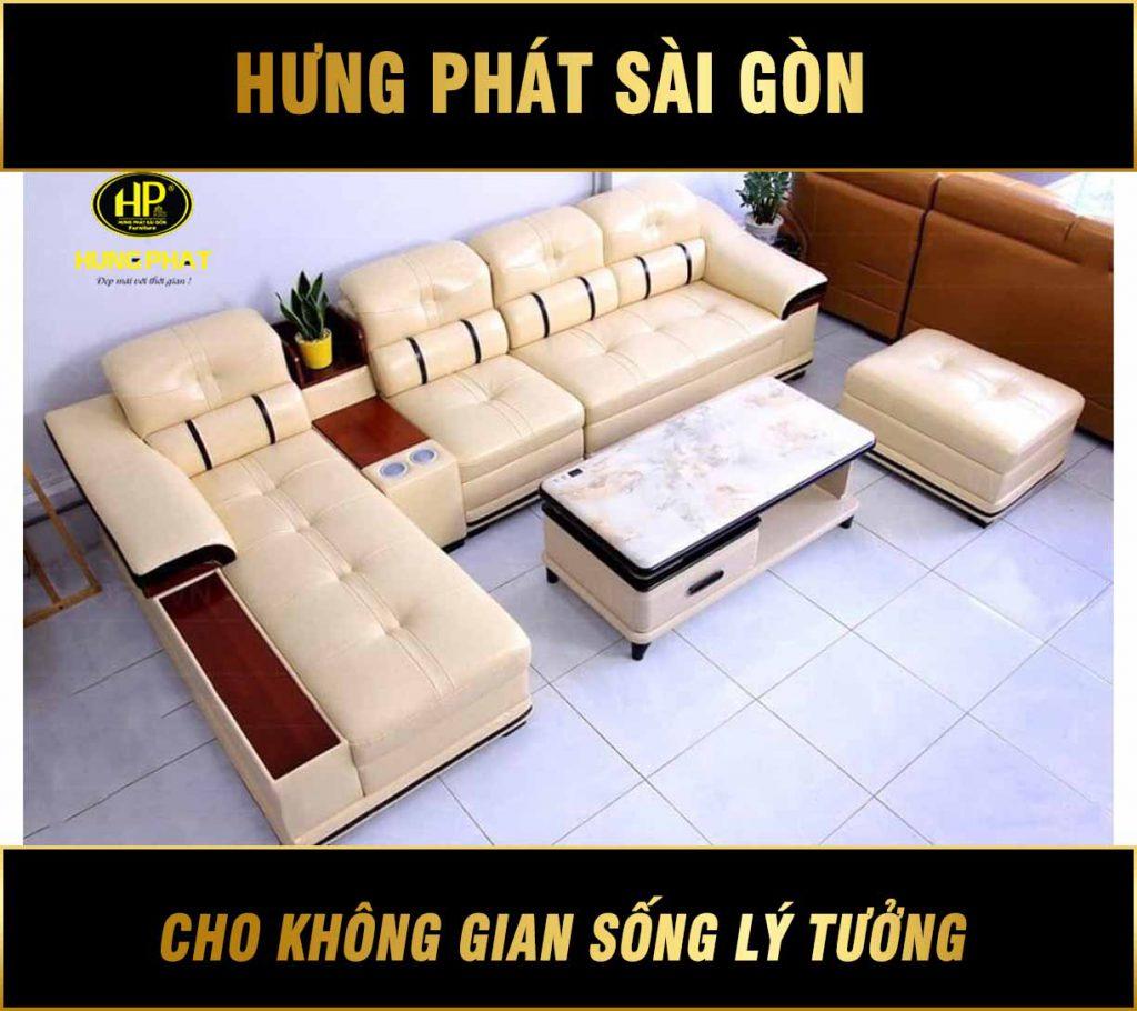 Sofa cao cấp chất liệu da HD-03