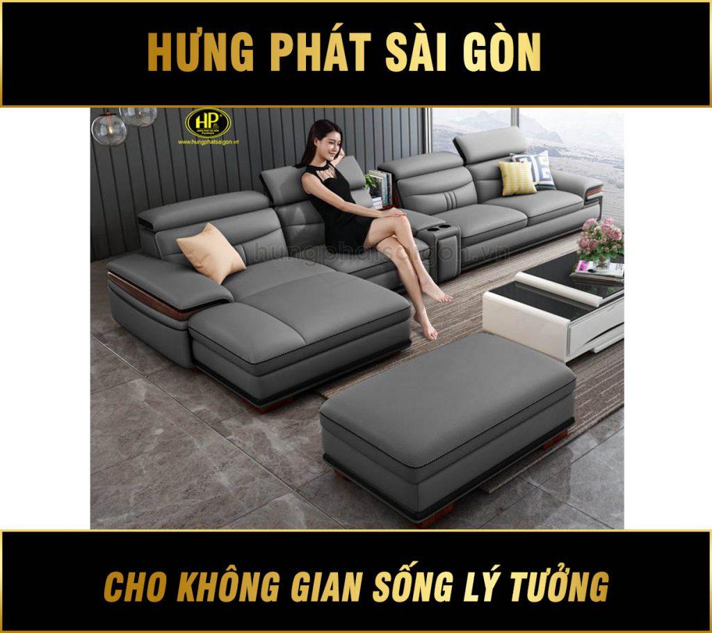 Sofa da cho căn hộ chung cư HD-66
