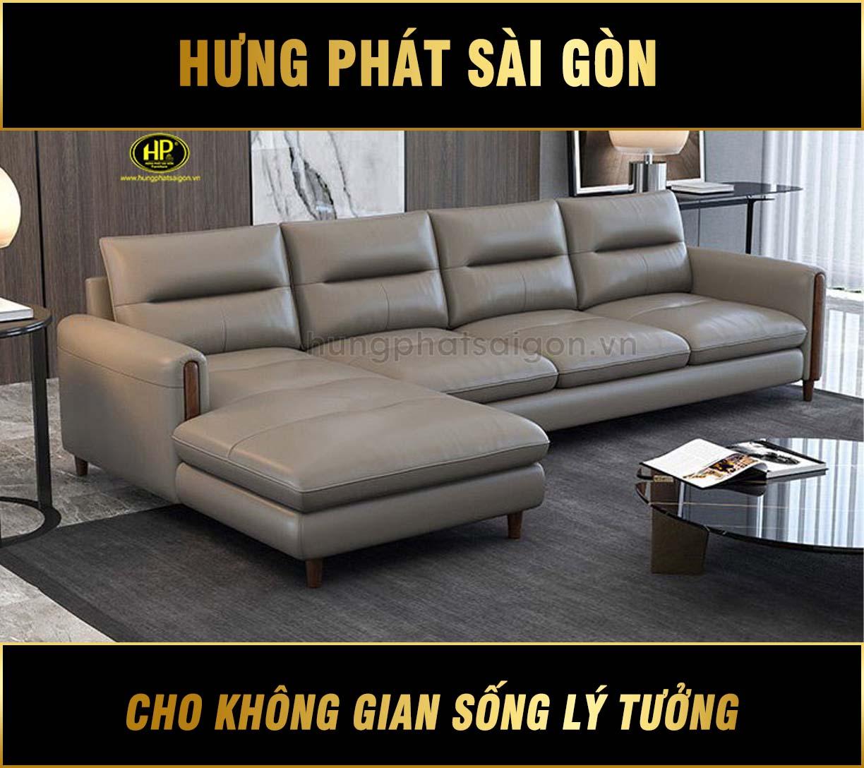 Sofa da góc hiện đại HD-65