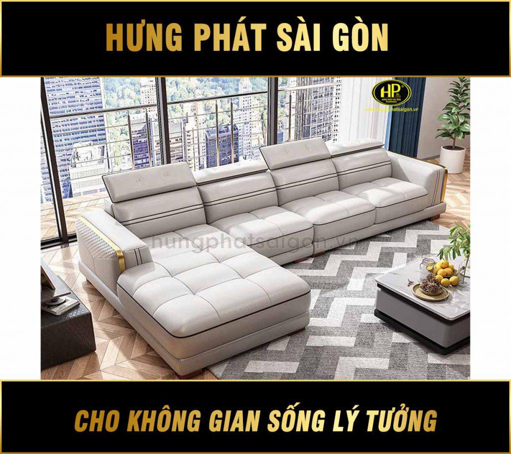 Sofa da phòng khách chung cư HD-64