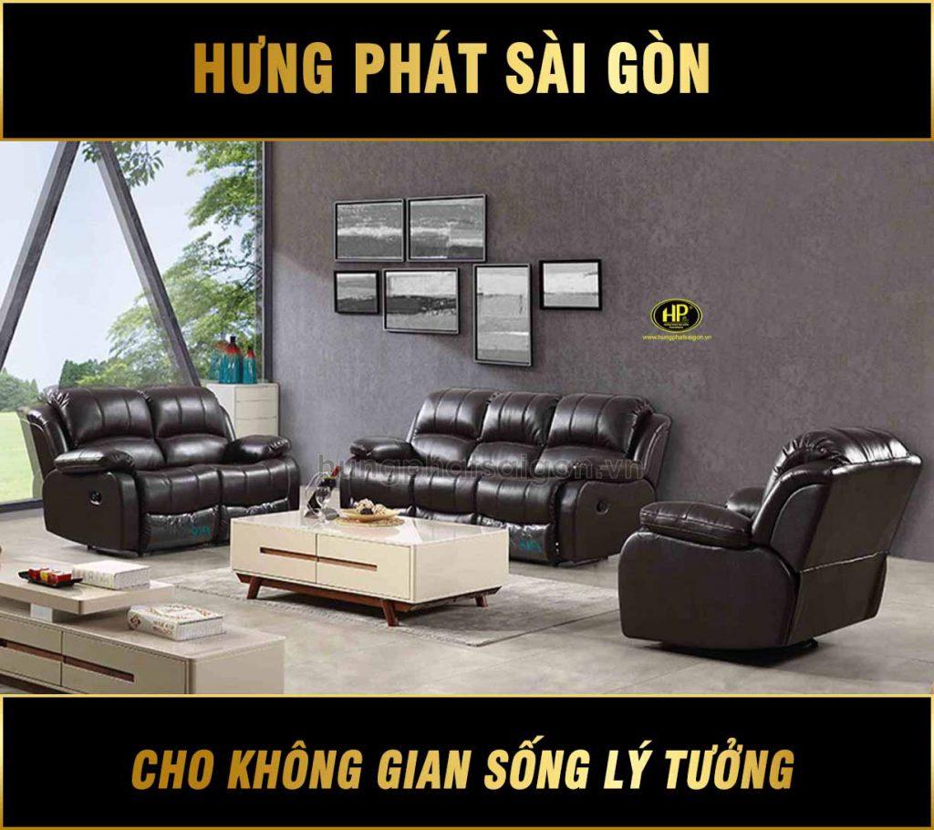 Sofa da thư giãn nhập khẩu NK-823