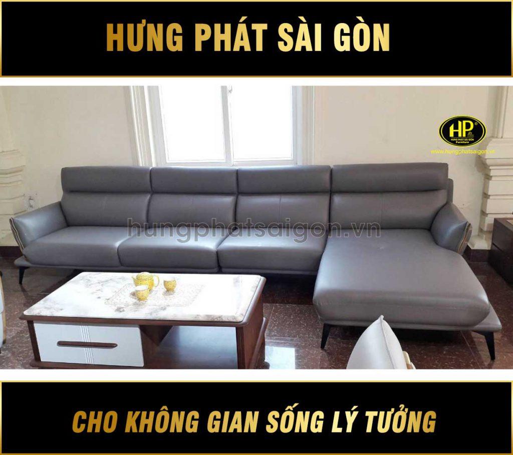 sofa da chung cư cao cấp