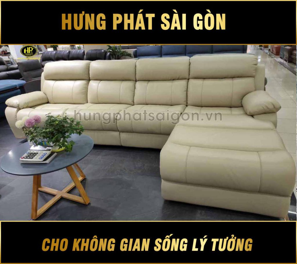 sofa da bò nhập khẩu nk-825